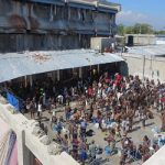 Inmates in one of Haiti's prisons