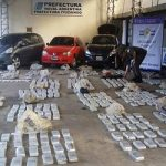 The drugs seized during the arrest of the brother of Itatí's vice mayor
