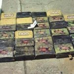 Part of the 160 kilograms of cocaine seized in El Salvador on March 12. Photo courtesy of La Prensa Gráfica.