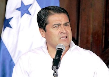 Honduras President Juan Orlando Hernández, whose brother Tony was mentioned in recent US court testimony