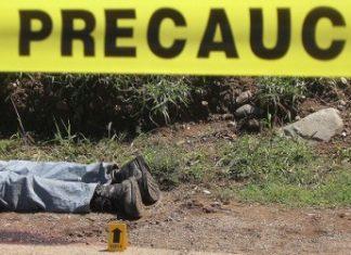 A homicide scene in Colima