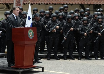 Panama's president inaugurates the new task force