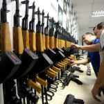 Police review seized rifles