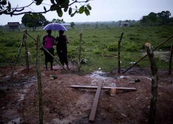 Grieving family members in Ahuas