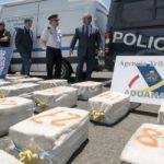 Spain's Interior Minister Juan Ignacio Zoido inspecting the cocaine seized on June 4