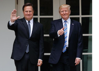 Trump and Varela meeting on Monday, June 19th, 2017