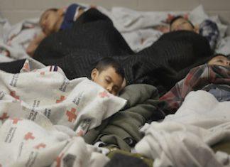 Unaccompanied migrant children in a Texas detention center. Credit: Revista Factum