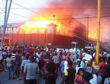 Camp Street prison destroyed during riot