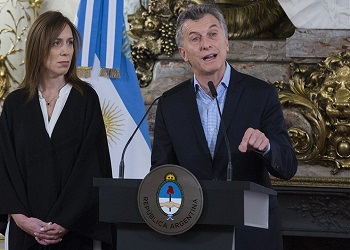 President Macri presenting the first official data on Argentina drug consumption in seven years