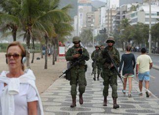 Brazilian troops on patrol in Rio de Janeiro