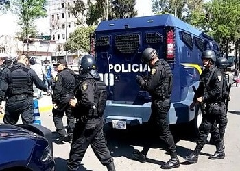 Police in Mexico City