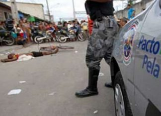 A murder victim in Brazil