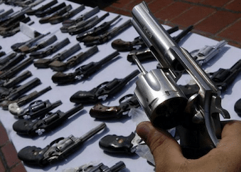 Firearms are used in a large majority of murders in Honduras