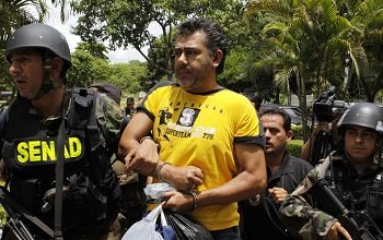 Jarvis Chimenes Pavão with Paraguay anti-drug police