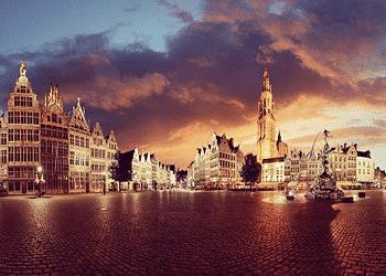 La ciudad puerto de Amberes, Bélgica