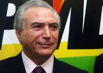 Presidente de Brasil Michel Temer, del PMDB