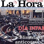 """""""Día infame"""", dice el titular del periódico guatemalteco"""