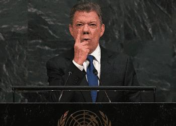 Presidente colombiano Juan Manuel Santos en Asamblea General de la ONU