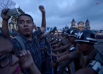 Manifestantes en Guatemala