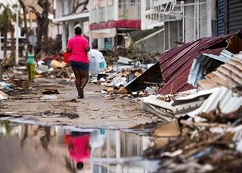 Devastación en San Martín después del huracán Irma