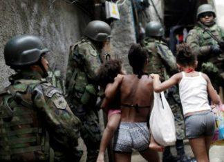 El ejército en la favela Rocinha, de Río de Janeiro