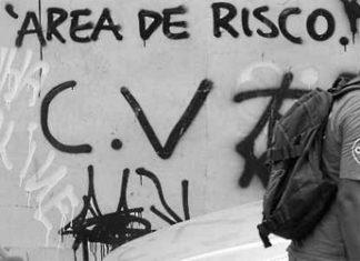 Graffiti bearing the Red Command's initials