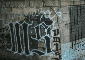 Grafiti de la MS13 en Estados Unidos