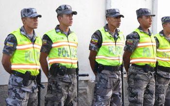 El cuerpo de policía de Ecuador es uno de los que mayor confianza generan en la región