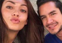 Juan Pablo Muñoz Hernández con Carolina Guerra, actriz y modelo colombiana