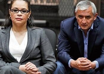 Ex vicepresidenta de Guatemala Roxana Baldetti y expresidente Otto Pérez Molina
