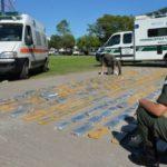 Una de las ambulancias detenidas en Argentina recientemente