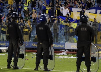 La violencia del fútbol ha sido un problema en Argentina por muchos años