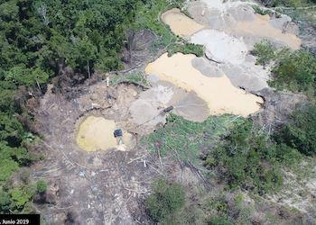 La minería ilegal está haciendo estragos en la zona de Madre de Dios en Perú