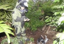 El ejército destruyó dos drones cargados con explosivos encontrados en Tumaco