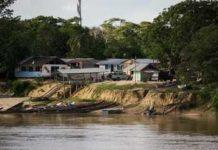 La población minera de Etheringbang, en Guyana, en la frontera con Venezuela